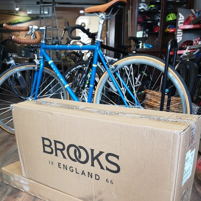 Brooks saddles at Just One More Bike